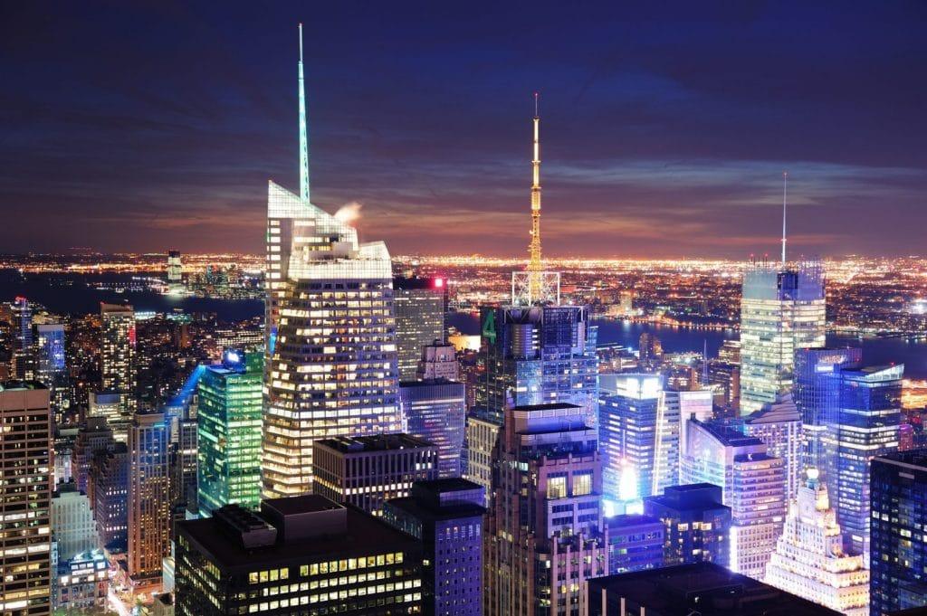 Aerial NYC Skyline